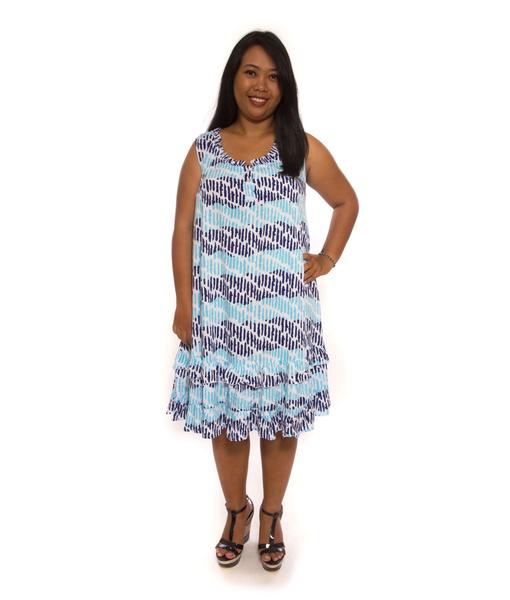 Bluish Dress Frill